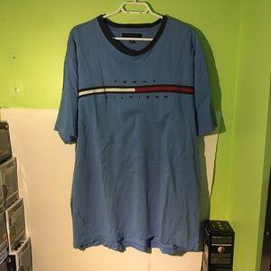 Vintage 90s Tommy Hilfiger Logo Stripe T-shirt